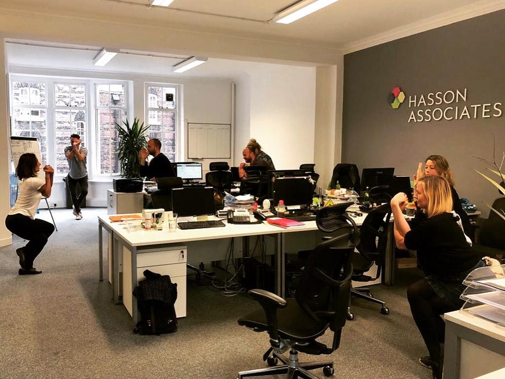 Desk and Chair Yoga, Garudasana, Eagle Pose, workplace yoga, office yoga, yoga everywhere, wellness week, desk yoga, chair yoga, corporate health and wellbeing champion, yoga London