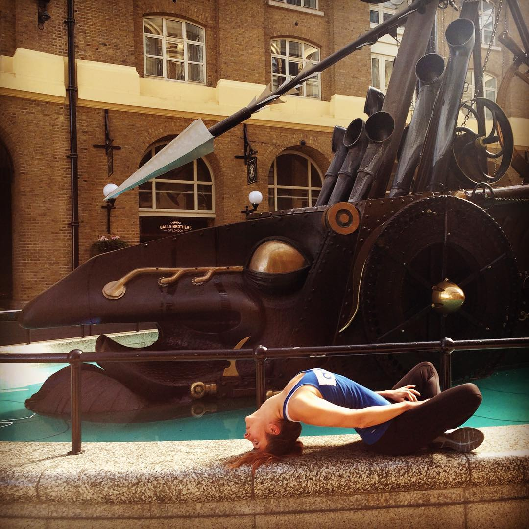 Matsyasana fish pose London Bridge workplace yoga, office yoga, yoga everywhere, wellness week, desk yoga, chair yoga, corporate health and wellbeing champion, yoga London