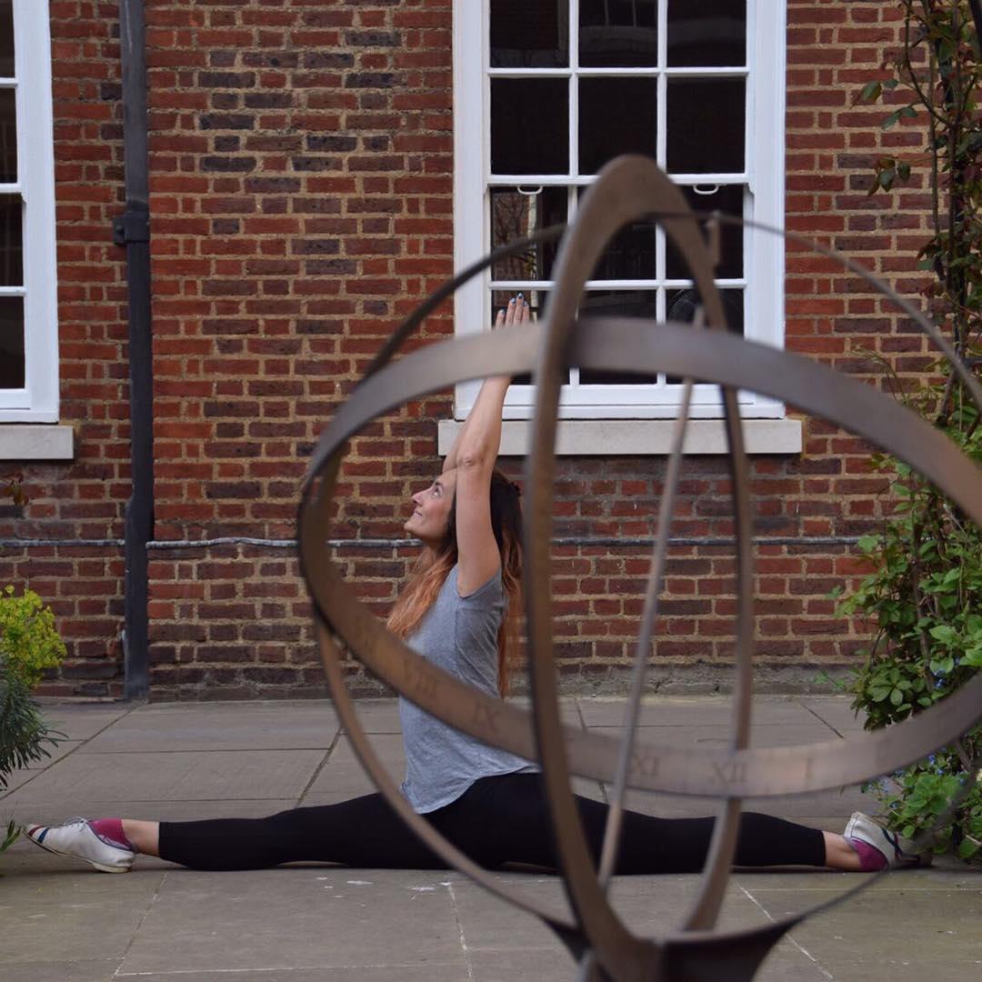 Hanumanasana Monkey Pose workplace yoga, office yoga, yoga everywhere, wellness week, desk yoga, chair yoga, corporate health and wellbeing champion, yoga London