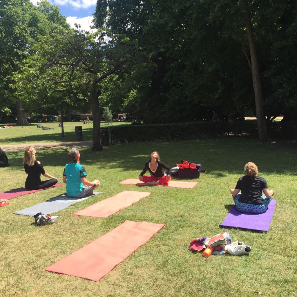 International Yoga Day 2017 Free Yoga Promo Lincoln's Inn Fields, workplace yoga, office yoga, yoga everywhere, wellness week, desk yoga, chair yoga, corporate health and wellbeing champion, yoga London