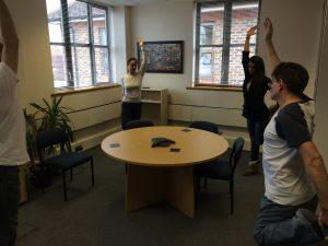 Santulanasana Desk and Chair yoga
