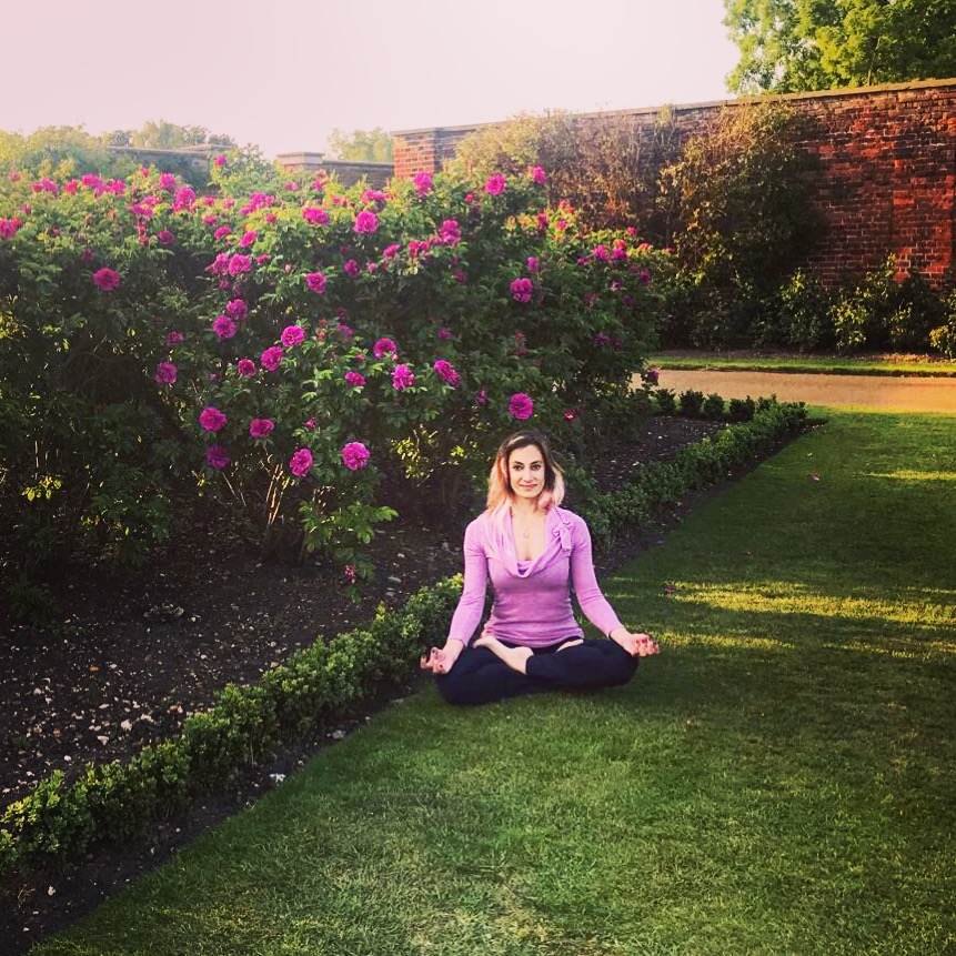 Padmasana Lotus pose Gyan Mudra workplace yoga, office yoga, yoga everywhere, wellness week, desk yoga, chair yoga, corporate health and wellbeing champion, yoga London
