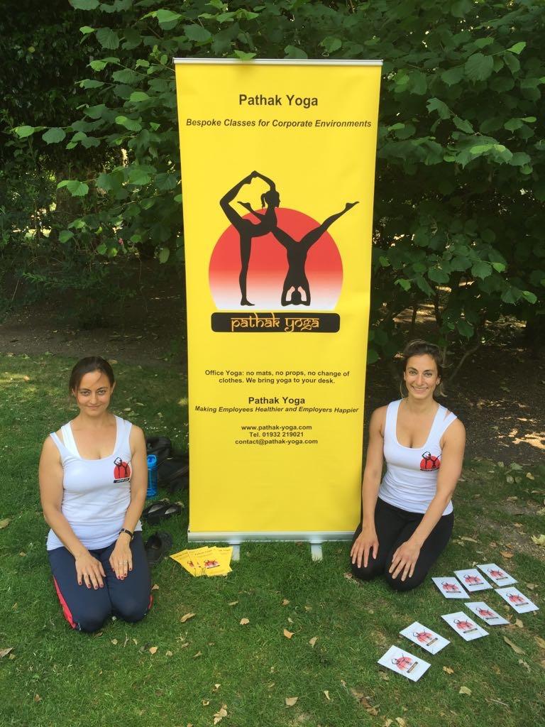 International Yoga Day 2017 Free Yoga Promo Lincoln's Inn Fields, Vajrasana Vajra Asana Thunderbolt Pose Diamond Pose workplace yoga, office yoga, yoga everywhere, wellness week, desk yoga, chair yoga, corporate health and wellbeing champion, yoga London