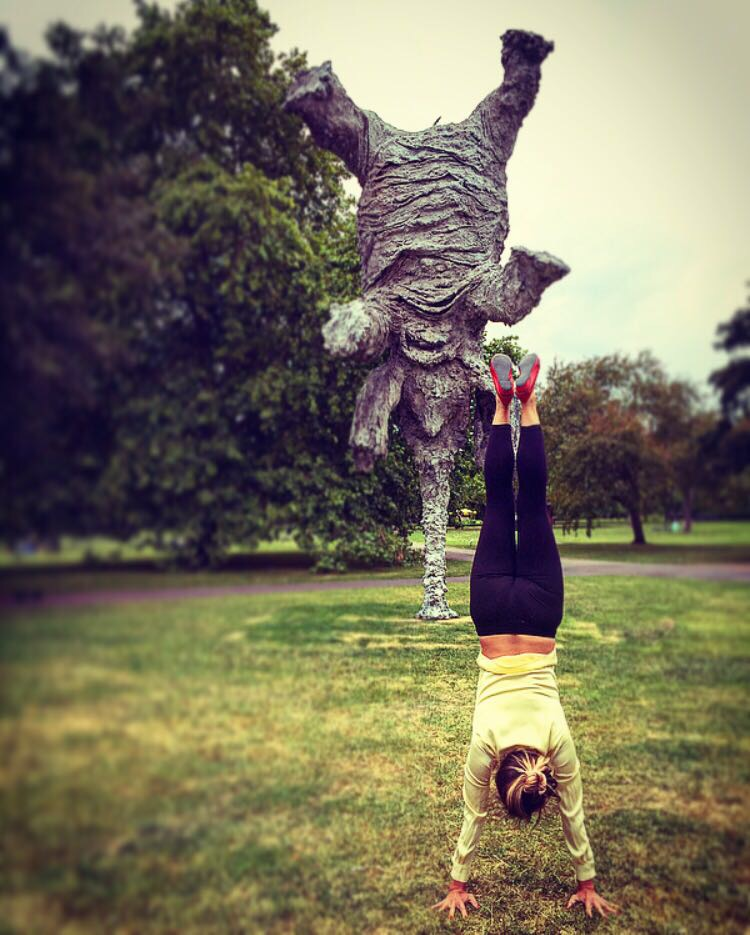 Handstand, Adhomukhavrksasana, Adho mukha vrksasana, Landmark Yoga, Regents Park, Frieze, workplace yoga, office yoga, yoga everywhere, wellness week, desk yoga, chair yoga, corporate health and wellbeing champion, yoga London