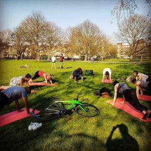 Yoga in the Park with KMG