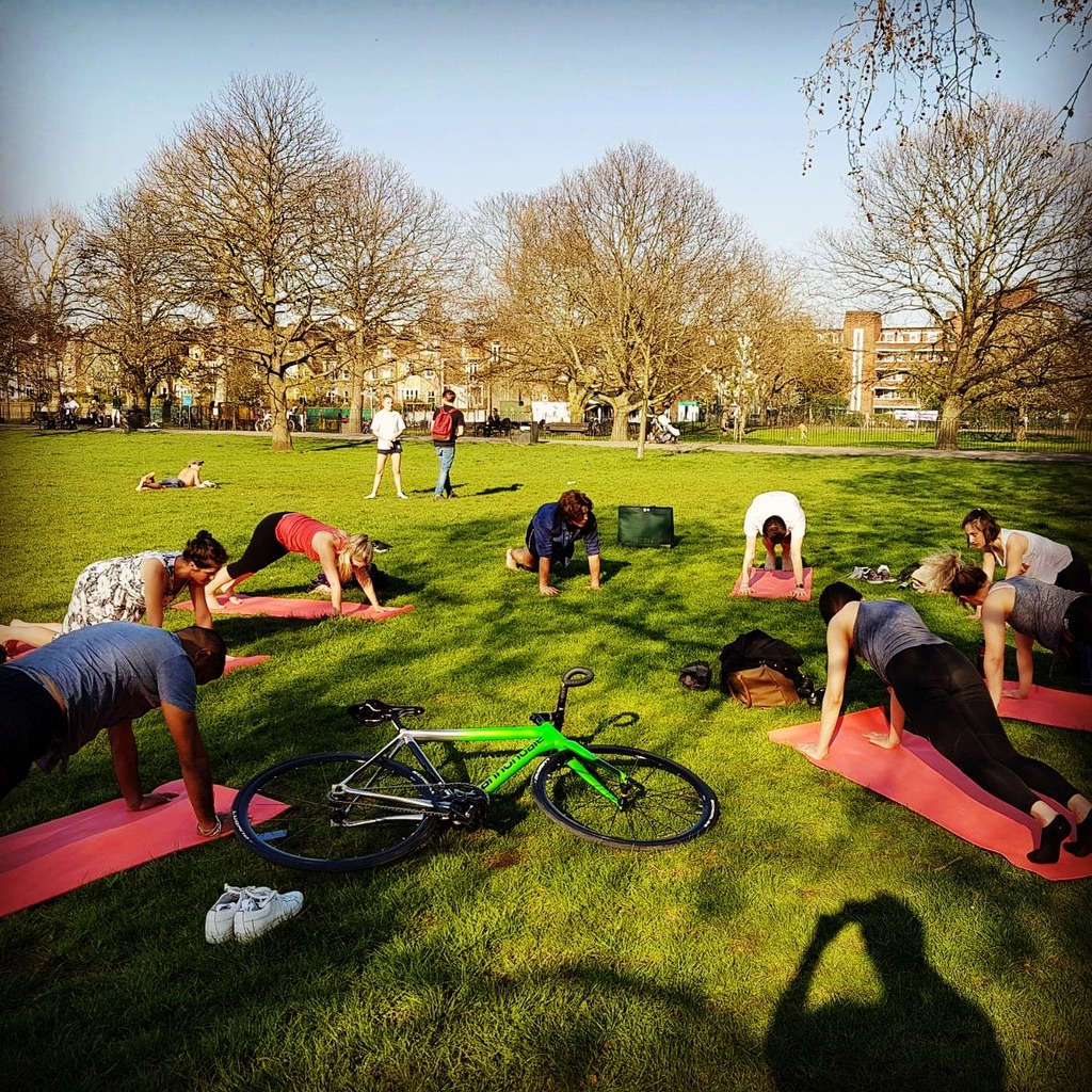 Traditional Yoga, Ravenscourt Park, KMG, workplace yoga, office yoga, yoga everywhere, wellness week, desk yoga, chair yoga, corporate health and wellbeing champion, yoga London