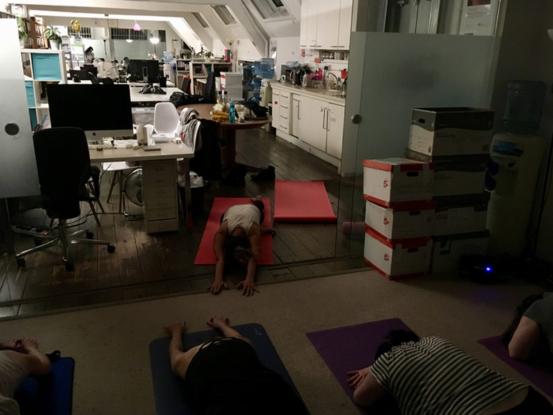 Corporate Yoga, Traditional Yoga Fitzrovia, Pigeon pose, King of pigeons, Rajkapotasana, workplace yoga, office yoga, yoga everywhere, wellness week, desk yoga, chair yoga, corporate health and wellbeing champion, yoga London