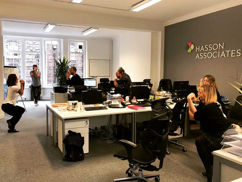 Office Yoga, Corporate Yoga, Desk and Chair Yoga, Garudasana, Eagle Pose, workplace yoga, yoga, yoga everywhere, wellness week, desk yoga, chair yoga, corporate health and wellbeing champion, yoga London